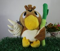 Wholesale Cute Duck Plush - New Anime Poke Monsters Stuffed Toys Cute Farfetch'd Plush Doll Lovely Animal Onion Duck Kawaii Christmas Toy Gift 30cm