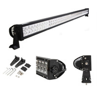Wholesale Waterproof Led Lights For Atv - 52 inch 400W Car LED Working Light Bar Spot Flood Combo Beam 12V 24V For Truck Ford Tractor Trailer ATV UTV 4X4 SUV Boat 4WD Waterproof IP67
