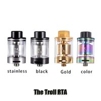 Wholesale Rainbow Tank Top - 100% Original Wotofo Rainbow The Troll RTA Atomizer 24mm Diameter 5ml Top Filling Tank For 510 Thread Box Mods