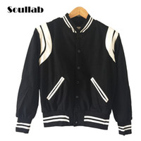 Wholesale Mens Star Jacket - Wholesale- High Quality Star Looks Fashion Mens Letterman Jackets For Men Hip Hop Hoodies brand style Varsity Jacket casual coat tops thick