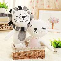 Wholesale Kids Room Comics Cartoon - Sweet Baby Doll Cartoon Animals Lion Cat Shape Dolls Kids Room Bed Decoration Gift Accompany Sleep Appease Soothing Toys 21ry F