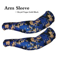 compression arm sleeve groihandel-Royal / Vegas / Black Sports Compression Arm Sleeves Baseball für Erwachsene Fußball Basketball