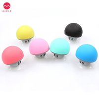 Wholesale Mushroom Waterproof Bluetooth Speaker - Wholesale- Mini Wireless Bluetooth Speaker Portable Mushroom Hands Free Speaker Waterproof Loudspeaker Receiver USB For IOS Android PC