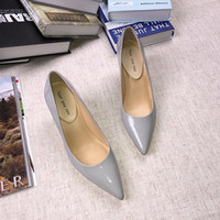 2017 Mulheres Brand New Moda Salto Alto Peep Toe Sexy Design Pump Shoes Primavera Verão Outono Genuine Patent Cow Shoes Leather