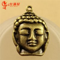 Wholesale Factory Direct Parts - 20*29MM Antique Bronze Alloy parts of Buddha charm pendant retro wholesale amulet jewelry factory direct sales, religious charms