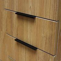 ingrosso cassetti moderni-96MM 128MM 160MM Maniglie per sigillare il bordo della porta dell'armadio semplice e moderna Maniglia antica nera comò del cassetto per nascondere il pomello 5