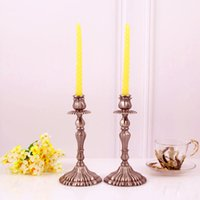 Wholesale Tall Candle Holders For Weddings - Rose Floral Black Centerpieces Tall Candelabras Centerpiece Gothic Table Antique Gift wraped Holders for Wedding Tables Decorations