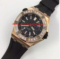 Wholesale Diamond Offshore - Luxury Wristwatch Offshore Diamond Bezel BC.ZZ.D002CR.01 Rubber Bracelet Automatic Mechanical Men Watches Top Quality