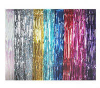 Wholesale Flash Layouts - Flashing ribbon curtain tassel Decorations 1m*3m Marriage birthday Christmas party decorations Photo background Scene layout props