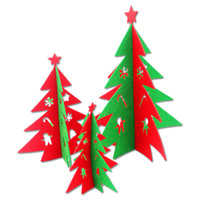 Wholesale Christmas Ornaments Wholesale Suppliers - Wholesale-2pcs lot Christmas Decoration Ornaments Non-woven Fabric Xmas Tree Gifts Supplier Dinner Party Table Decor for Home SD314