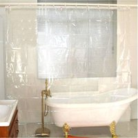Wholesale Peva Curtain - Wholesale- Transparent PEVA Shower Curtain Waterproof Curtain No Smell Bathroom Accessories