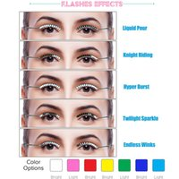 Wholesale Eyelashes Best Selling - Hot Selling Led False Eyelashes Battery Replaceable Fashion Trend Nightpub,Party ,Hallowen,Festivals Best Gift for Friend and Family