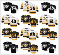 Wholesale Boys Toms - Youth Kids 2016 Pittsburgh Penguins Jersey 34 Tom Kuhnhackl 43 Conor Sheary 51 Derrick Pouliot 58 Kris Letang 59 Jake Guentzel Jersey