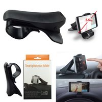 Wholesale Universal Navigation Mount - Universal Creative Car Steering Wheel Cradle Cellphone GPS Navigation Bracket HUD Display For Mount Stand Phone Holder Clip Safe Adsorption