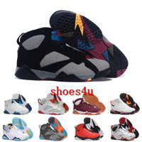 Wholesale Cardinal Rhinestone - [With Box]air retro Jump men 7 VII mans basketball shoes raptor guyz Hares Olympic Bordeaux GG Cardinal Raptor French BRED gold shoes