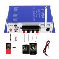 Wholesale HY502 Digital Display Hi Fi Wx4 CH Car Stereo Power Amplifier AMP Support iPod USB MP3 FM SD Jack Input CEC_813