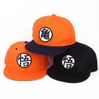 Wholesale Flat Hats For Kids - 2style High quality Dragon ball Z Goku hat Snapback Flat Hip Hop caps Casual baseball cap for Men women kids birthday GIFT