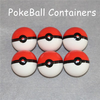 Wholesale Toy Shipping Containers - Rich Style Poke Ball Shape Round Shape Silicone Container Dry Herb Jars Dab for Dry Herb Wax Vaporizer Free Shipping