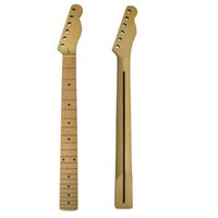 Wholesale guitar neck for fender - 1PCS Maple Electric Guitar Neck 22 Frets with Rosewood Back Rid for FD Tele Style Guitar Parts Replacement