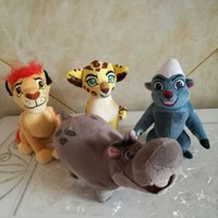 Wholesale Plush Soft Lion - The Lion Guard Plush toy 15CM KION FULI cheetah BUNGA beshte hippo Ty beanie babies Stuffed Animal children toy soft Hot Sale