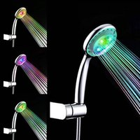 Wholesale Bathroom Electric Shower - Spontaneous Electric Hand Shower Head Chrome Feature Polished for Hot And Cold Round Bathroom Shower Head