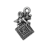Wholesale Quilting Accessories - one side Quilting Bee horse Animal Accessory Charm Antique Silver Plated Charm DIY Necklace&Bracelet Jewelry Special style hot sell
