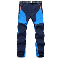 Wholesale Thick Waterproof Trousers - Wholesale- Outdoor Men Charge Pants Style Grasp Sweat Trousers Warm Windproof Thick Soft Shell Pants Mountaineering Ski Pants Winter