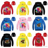 Wholesale Trolls Kids Clothing Moana Trolls Hoodies Cartoon Printed Sweatshirts Baby Long Sleeve Cotton Coat Children Jacket Jumper Kids Clothes H560