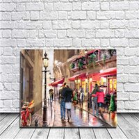 Wholesale Flower Acrylic Paintings Canvas - Romantic Flower Street DIY Painting By Numbers Kits Acrylic Paint On Canvas Hand-Painted Oil Painting For Wall Art Work For Living Room