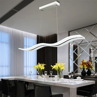Wholesale modern lights for dining room for sale - Hot LED Acylic Pendant Light wavy S type Modern for living room Wave Acrylic pendant lamp dinning room Pendant Lighting AC85 V