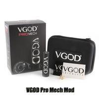 Wholesale mech mod batteries - 100% Original VGOD Pro Mech Mod 24mm Diameter 18650 Battery Promech Mechanical Mod For 510 Thread RDA Atomizer