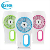 Wholesale Best Mosquitos - Best sale summer handheld water mist fan outdoor mini USB misting humidifier fan with 3 colors