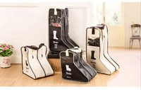 Wholesale Hand Bags Shoes - 4pcs lot Receive bag travel boots Visual non-woven dustproof hand carry boots cover Portable shoe bag cover in home shoe case