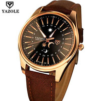 Wholesale World Map Watch Men - 2017 Fashion brown leather strap waterproof gentleman quartz wristwatch moon world map Luxury Brand men watch master Male Clock