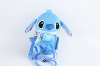 Wholesale Lilo Stitch Plush Backpack - Hot Sale New 16x22cm Lilo & Stitch Plush Stuffed Animals Backpacks Doll Toy Gifts For kids Wholesale -003