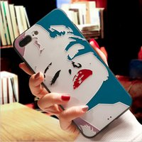 Capa Marilyn Monroe para iphone 8 plus Sexy Girl 3D Relief de impressão colorido TPU + PC Back Cover para iphone 7 7plus 6 6S plus