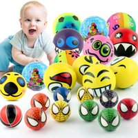 Emoji Squeeze Balls Relief Bouncy Ball 7.6cm Funny Tricky Earth Stress Ball Enfants Jouets 4 Styles 12pcs / set b1447