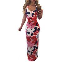 Wholesale String Back Dress - Casual Colorful Spaghetti Strap Tank Bodycon Women Maxi Dress Strings Back Long Party Dress Vestidos
