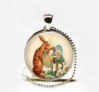 Wholesale Artist Rabbit - Hot Bunny Artist pendant Necklace,Easter pendant necklace,bunny rabbit jewelry, artist jewelry, Easter jewelry, artist necklace