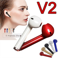 Wholesale V2 Android - V2 Mini Earphone Wireless Bluetooth 4.1 Earbud In-Ear Stereo headphone Headset For Samsung Galaxy Android Apple Iphone Single Earpiece