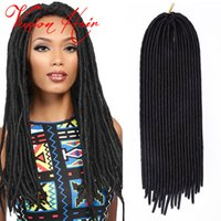 Wholesale Freetress Synthetic Hair - Freetress Goddess Faux Locs Crochet Hair 20inches 100g pack Kanekalon Braiding Hair Goddess Locs Crochet Hair Extensions
