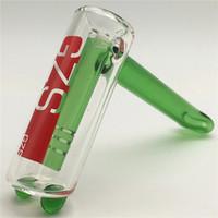 ağaç sünger cam bong yeşil toptan satış-Cam Çekiç Boru El Boru Heady Bong Fıskiye Su Borusu Bir Kol Perc Ağacı Percolator Sigara Bongs Tütün Bongs Yeşil Bükülmüş kase