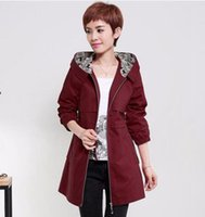 Wholesale Trench Coat Women Fall - Women fall in han edition business leisure fashion the new trend of England personality loose long trench coat   M-4xl