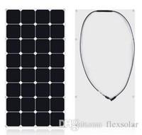 Wholesale Used Yachts - solar panel 100w 12V High efficiency sunpower flexbile solar photovoltaic cell for yacht, caravan, boat,RV,Golf cart,motorhome use