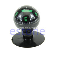 Wholesale Vehicle Compasses - Wholesale-U119 Free Shipping Mini Flexible Navigation Compass Ball Dashboard Suction Cup Car Boat Vehicle