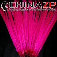 ringneck pheasant feathers Canada - Leading Supplier CHINAZP 50~55(20~22inch) 100Pcs lot High Quality Dyed Fushia Ringneck Pheasant Tail Feathers