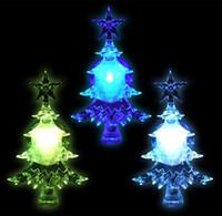acrylique led arbres de noel achat en gros de-Changement de couleur LED Acrylic Christmas Tree Sucker décoration décoration à piles