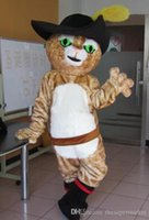 Wholesale Mascot Puss Boots - Puss in boots mascot costume adult size Puss in boots mascot costume free shipping