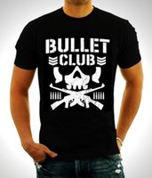 Wholesale Wrestling Shirts - 2017 New Pro-Wrestling Bullet Club Bone Soldier Men's Black T Shirt Camiseta Summer Fashion MMA tshirt Plus Size