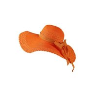 Wholesale Grass Paper Gift - Best gift Straw hat spring and summer big beach bowknot sweet and lovely hat sunscreen beach hat SMB047